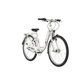 "Puky Skyride Light 24"" Juniorcykel Barn 7-stegs pink/vit"